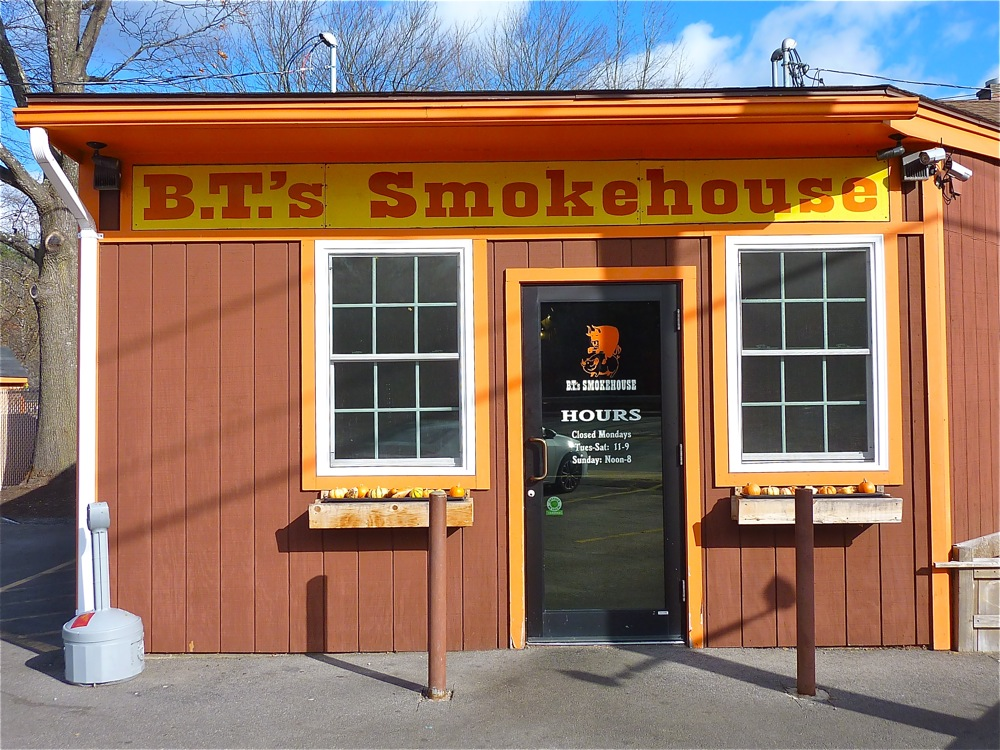 B.T.'s Smokehouse BBQ restaurant in Sturbridge, Massachusetts