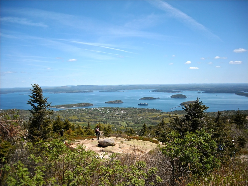 Cadillac Mountain during the day at Acadia National Park, Maine