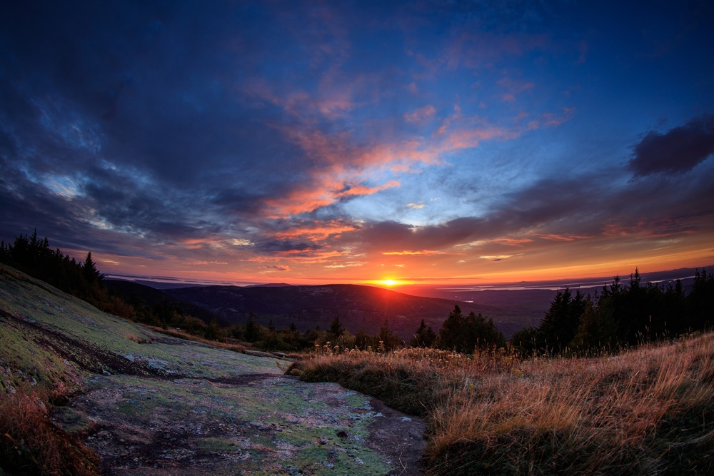 Cadillac Mountain sunrise, Acadia National Park, Maine