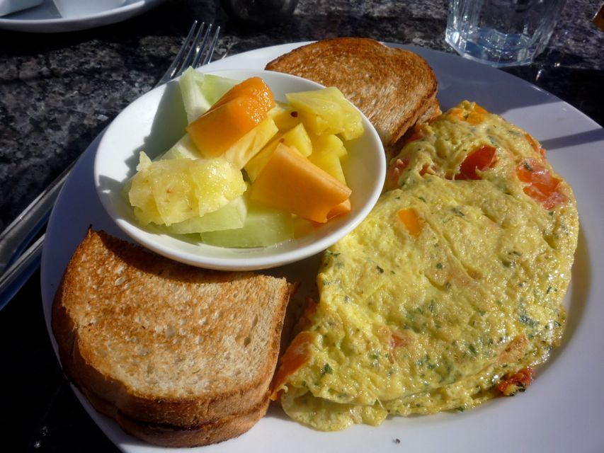 Picture of omelet from 123 restaurant and Inn, York Beach, Maine