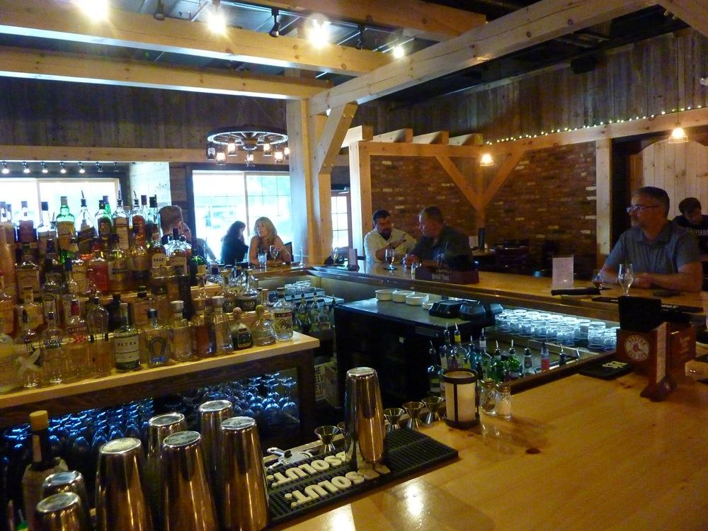 Bar area at The Charred Oak Tavern in Middleboro, Mass.
