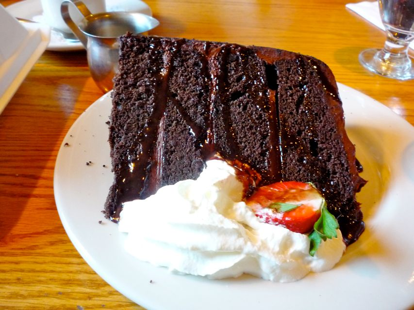 Chocolate cake from Stoneforge Grill, Easton MA