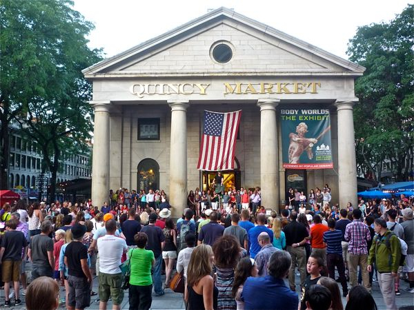 Faneuil Hall -- Quincy Market -- Boston MA