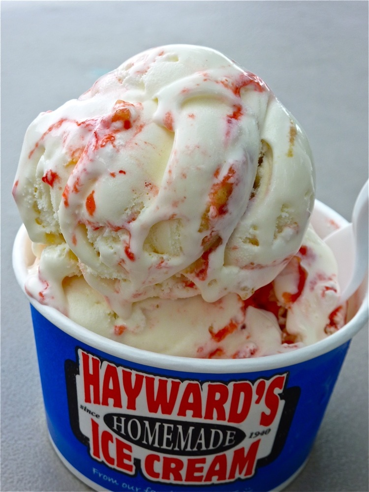 Homemade ice cream from Hayward's Ice Cream in Nashua, N.H.