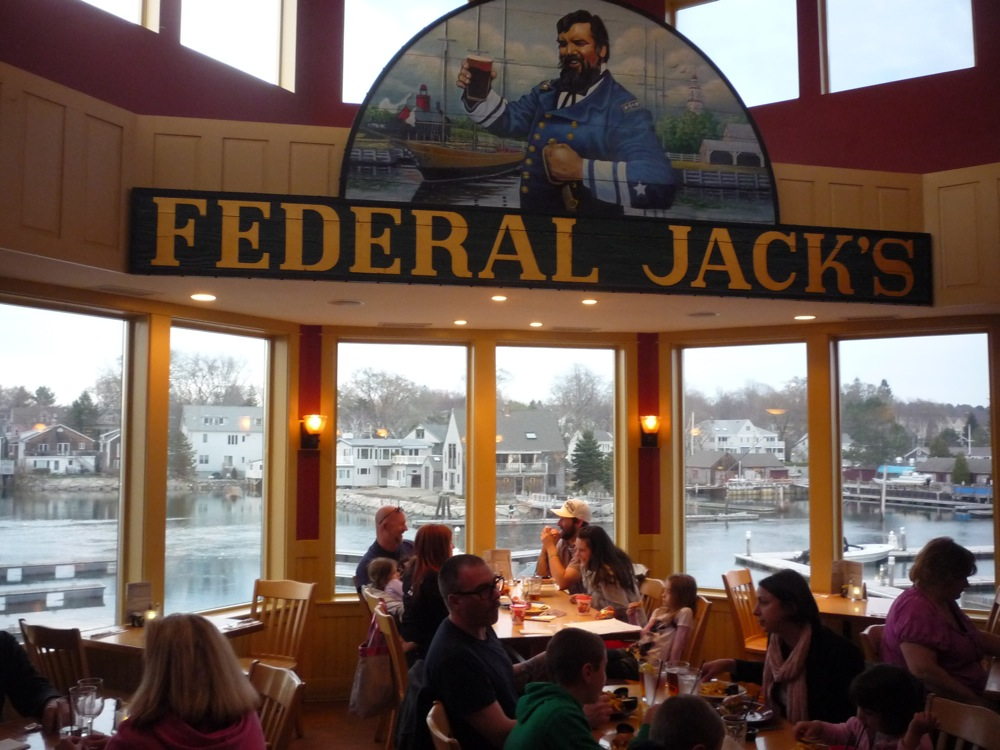 Federal Jack's in Kennebunk, Maine, offers amazing water views and fresh seafood.