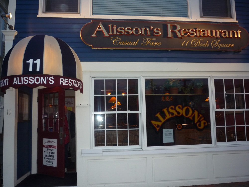 Alisson's restaurant in Kennebunkport, Maine.
