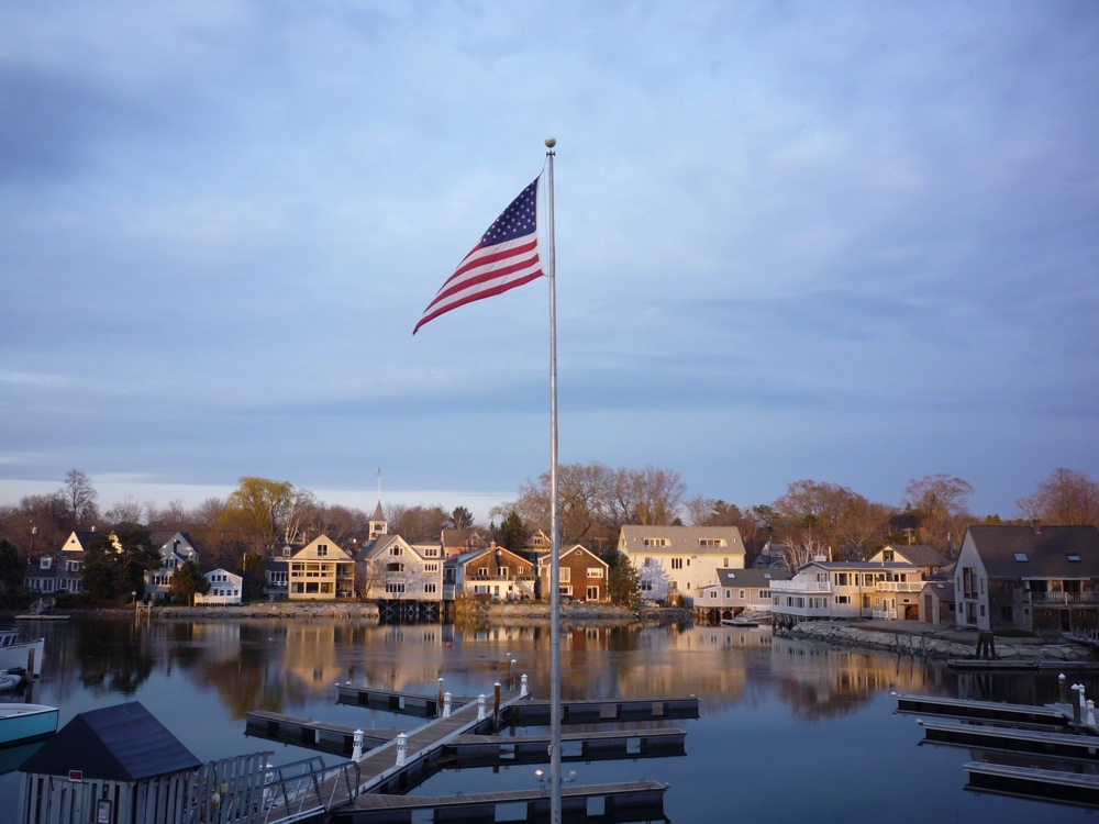 View from Federal Jack's in Kennebunk, Maine