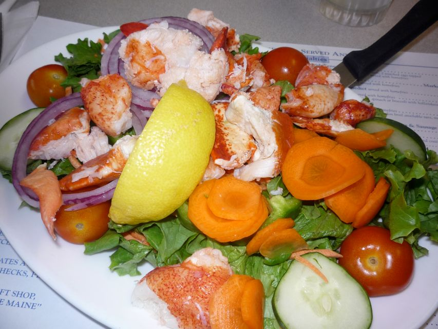 Picture of lobster salad from the Maine Diner, Wells, Maine