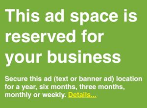 Image of New England business ad banner
