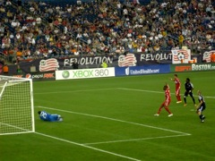 Picture of New England Revolution soccer game at Gillette Stadium, Foxboro, Mass.