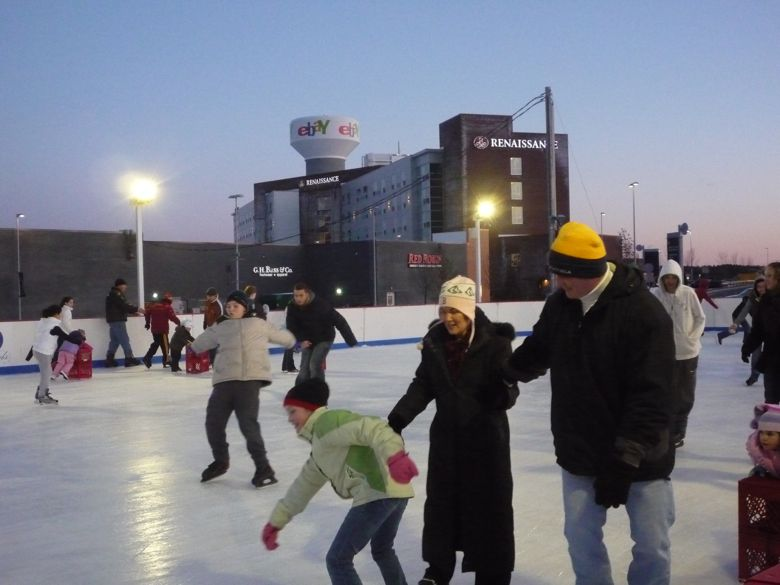 Winter Skate at Patriot Place photo, Foxboro, Mass.