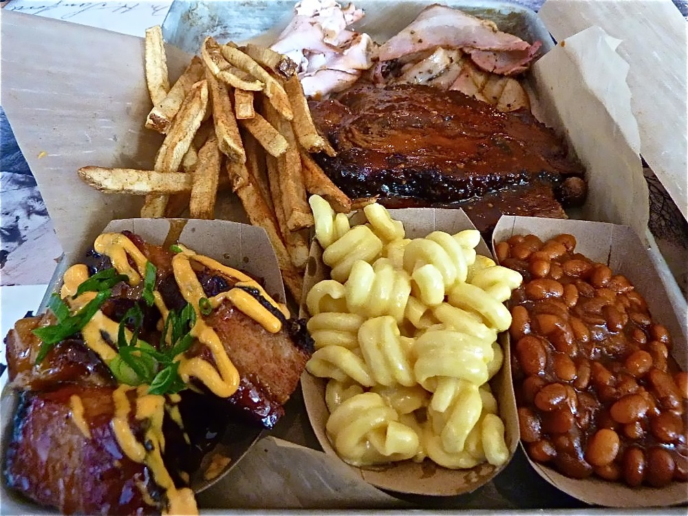 "Sample plate from PJ's Smoke ""N"" Grill in Medway, Massachusetts."
