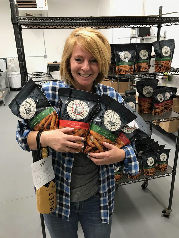 Suzanne Foley, owner of Port City Pretzels in Portsmouth, N.H.
