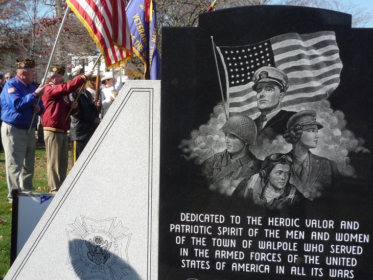 Veterans Day, Thanks to Military Vets, Walpole, MA