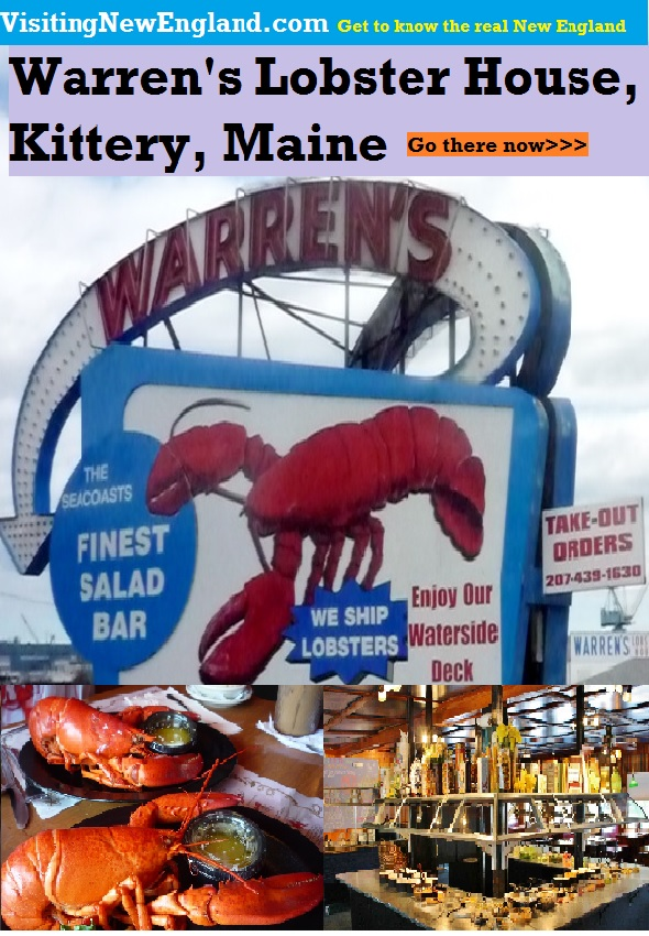 What to choose, the succulent lobster or the 60+ item salad bar at Warren's Lobster House in Kittery, Maine? Both would be the right answer.