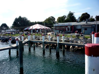 Photo of waterfront dining at Abbott's, Noank CT