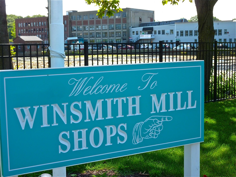 Shopping for antiques and shabby chic merchandise at Winsmith Mill Market in Norwood, mass.