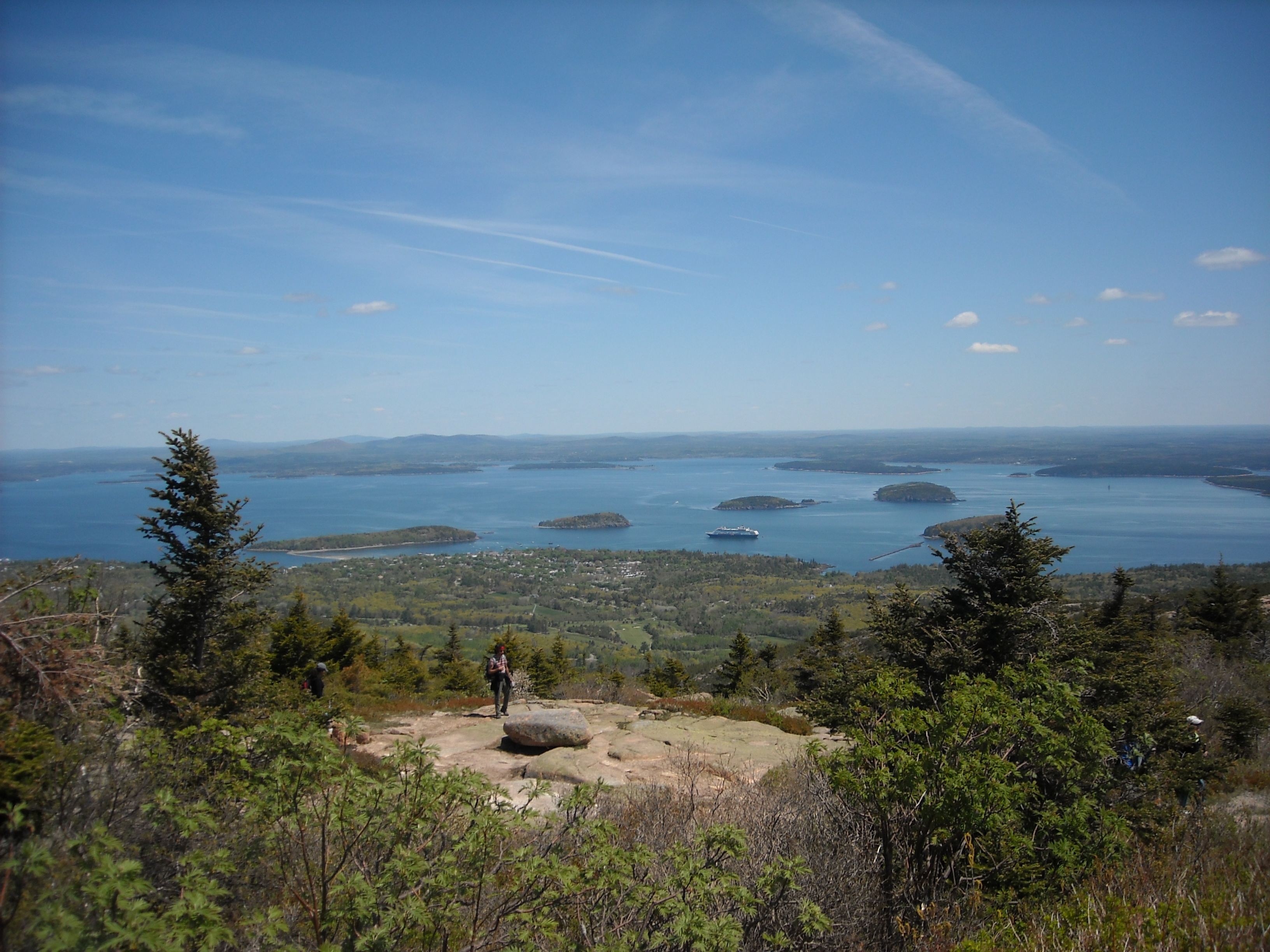Viewing Coastal Maine From Cadillac Mountain
