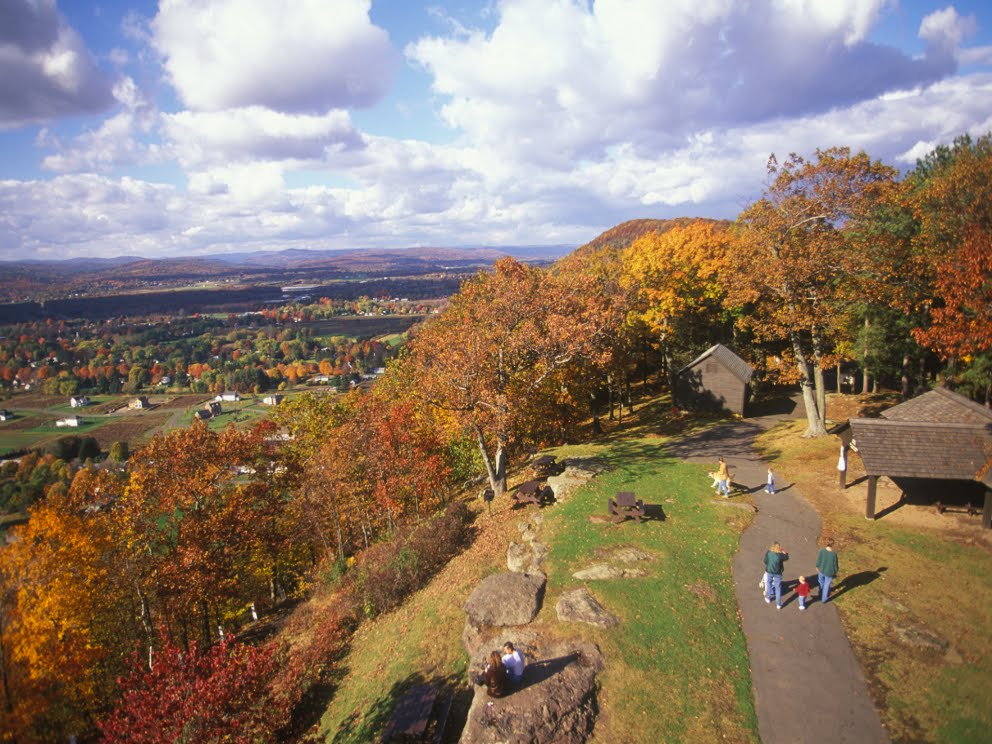 Mt. Sugarloaf makes for a great fall foliage hike (Photo Credit: Kindra Clineff, through http://www.MassVacation.com)
