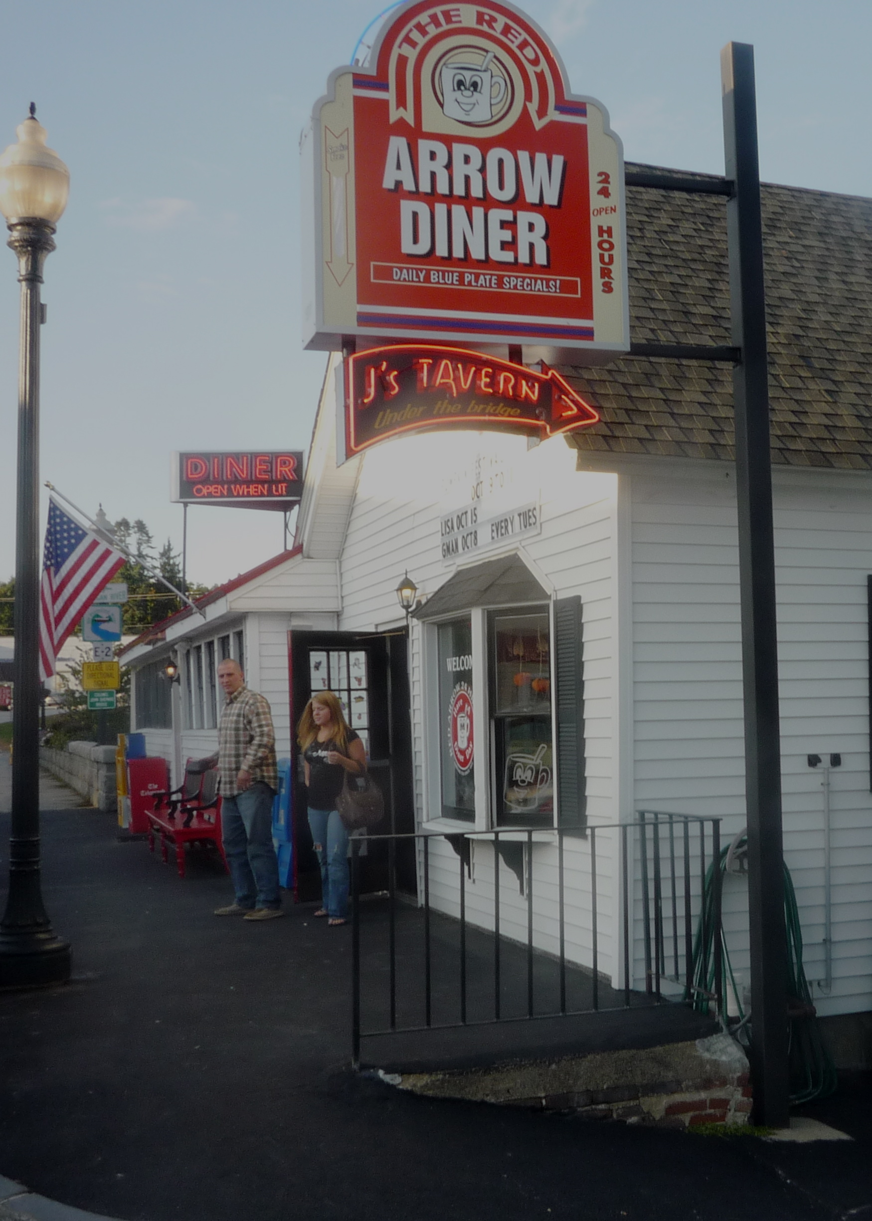 Feasting On A Dining Bargain At The Red Arrow Diner, Milford, N.H.