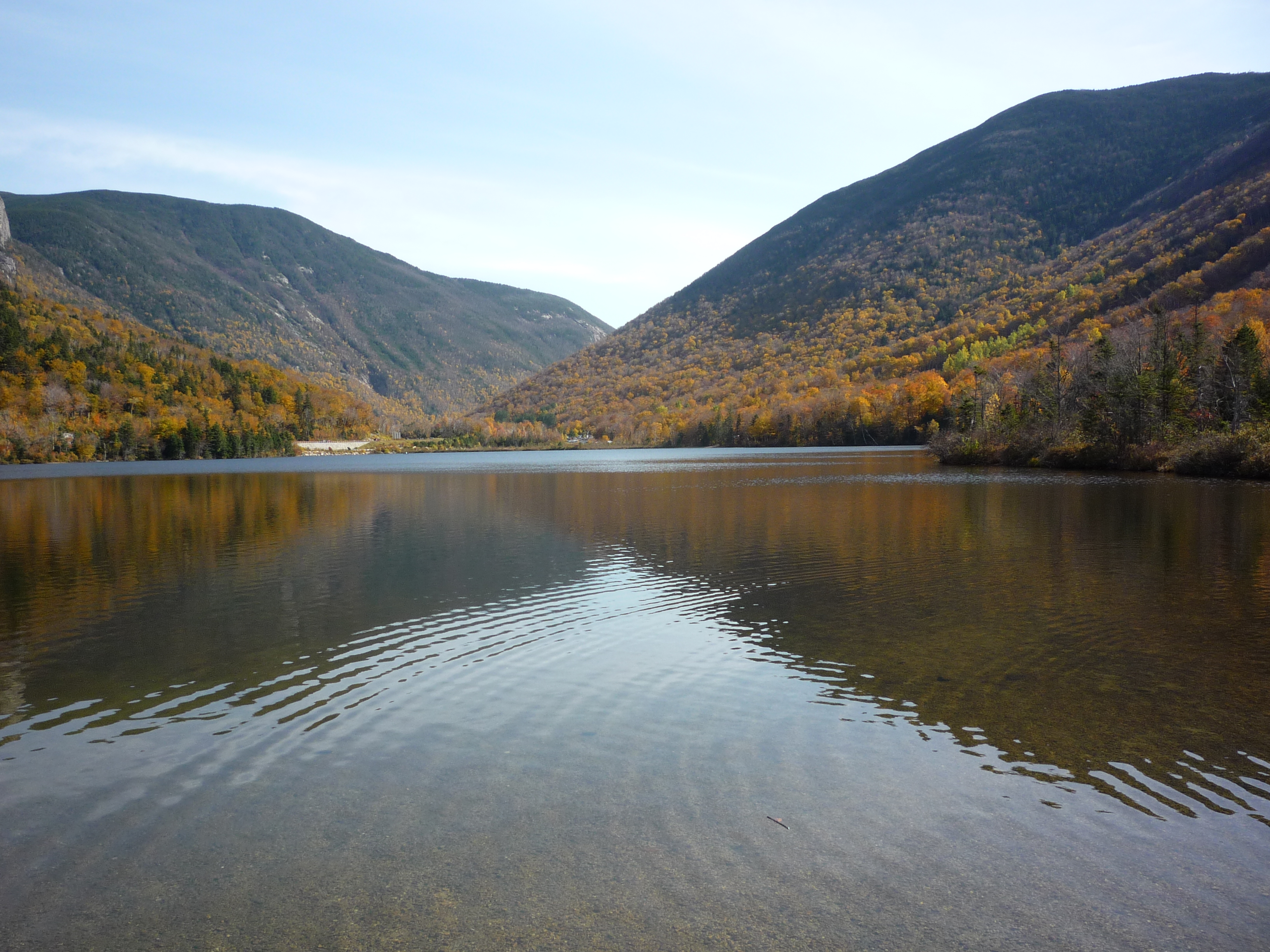 Visiting Scenic Echo Lake Beach In The NH White Mountains