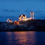 Nubble Lighthouse during the holidays