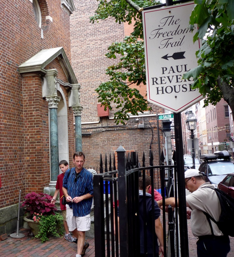 Image of Paul Revere House on the Freedom Trail, Boston MA