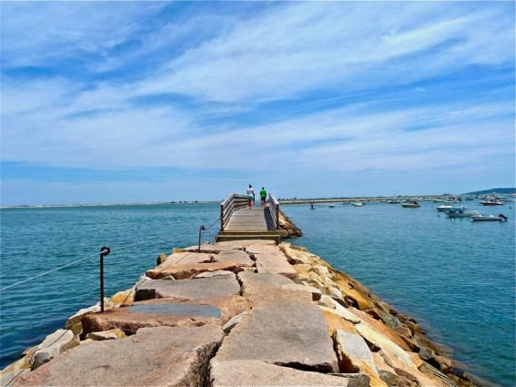 Plymouth Harbor jetty, Plymouth MA