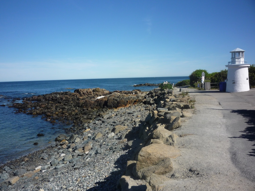 Phony lighthouse at Marginal Way, Ogunquit, Maine.. Photo; Eric