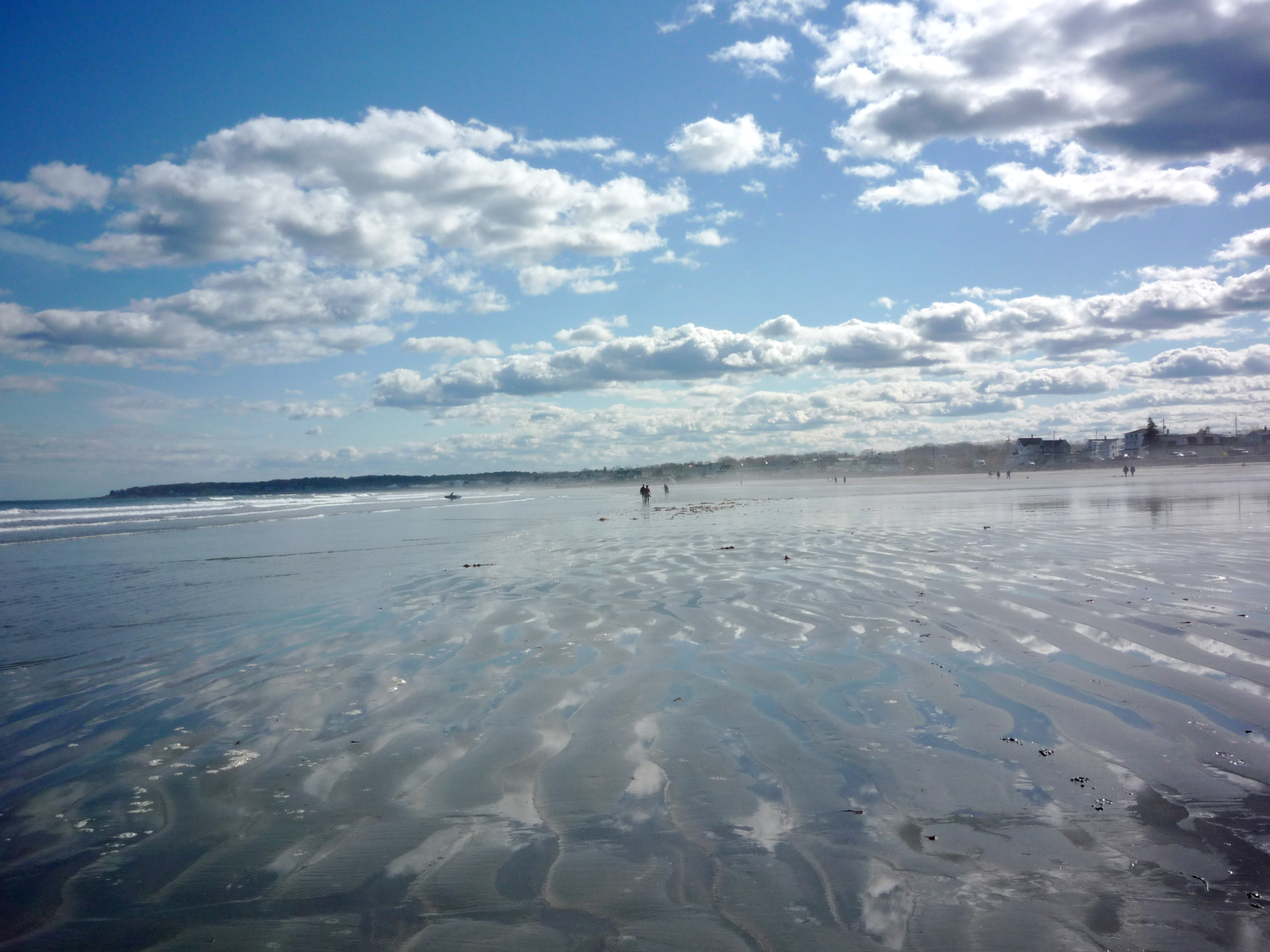 Long Sands Beach Walk in the Morning (York Beach, Maine)