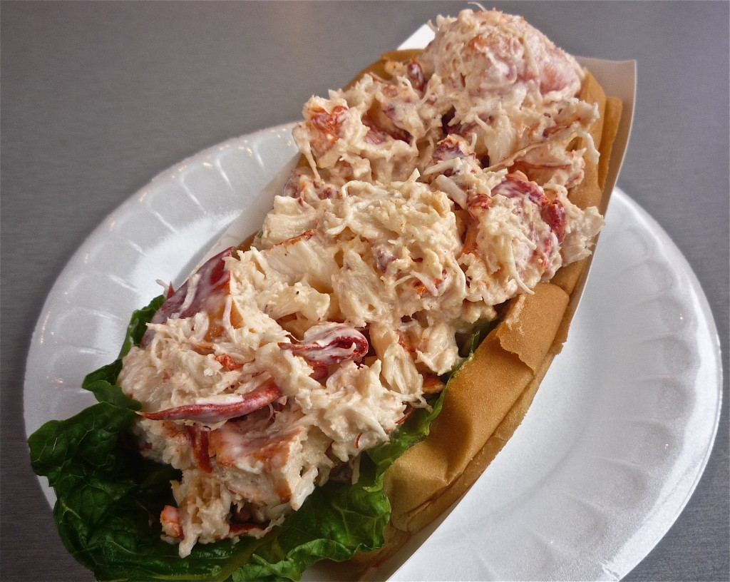 Photo of lobster roll from the Lobster roll from Lobster Hut in Plymouth MA