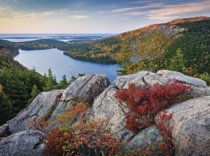 Image of Maine fall foliage at Acadia National Park, Maine