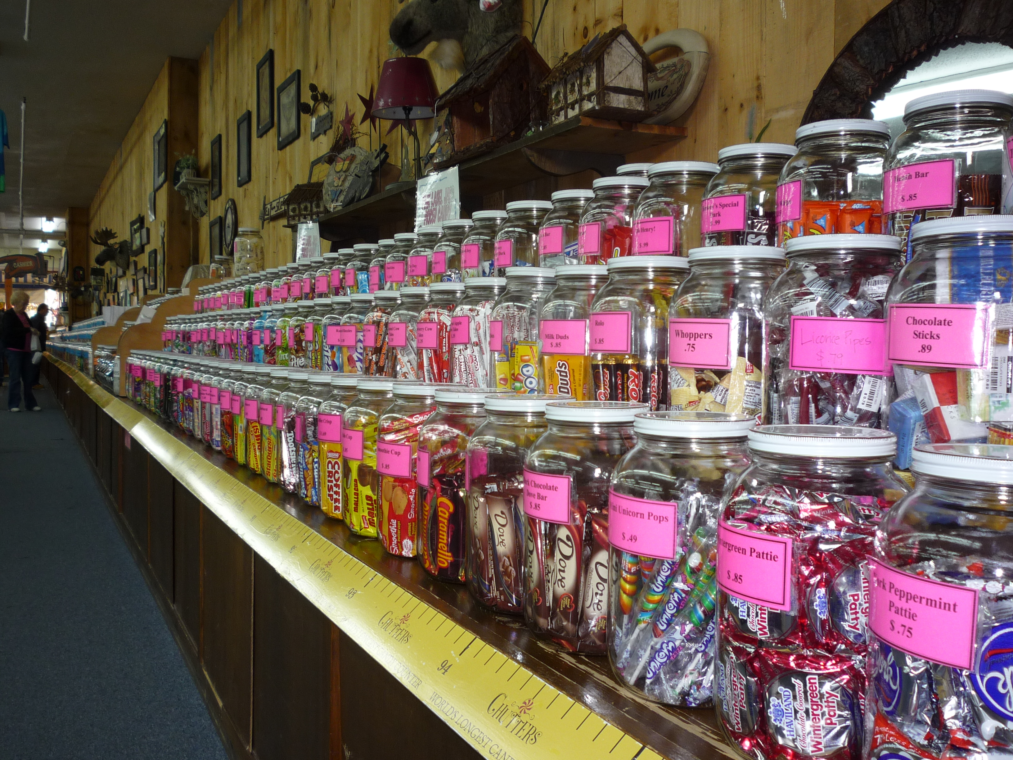 Chutters in Littleton, N.H., Features the Longest Candy Counter in the World