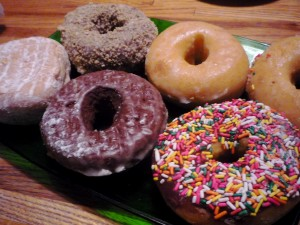 Photo of donuts from Donut Express, Medfield, Mass.