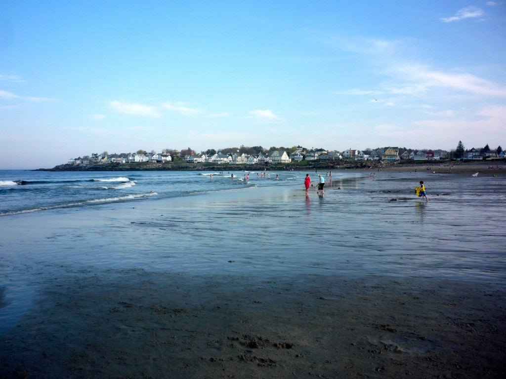 Image of Short Sands Beach, York Beach, Maine in the spring