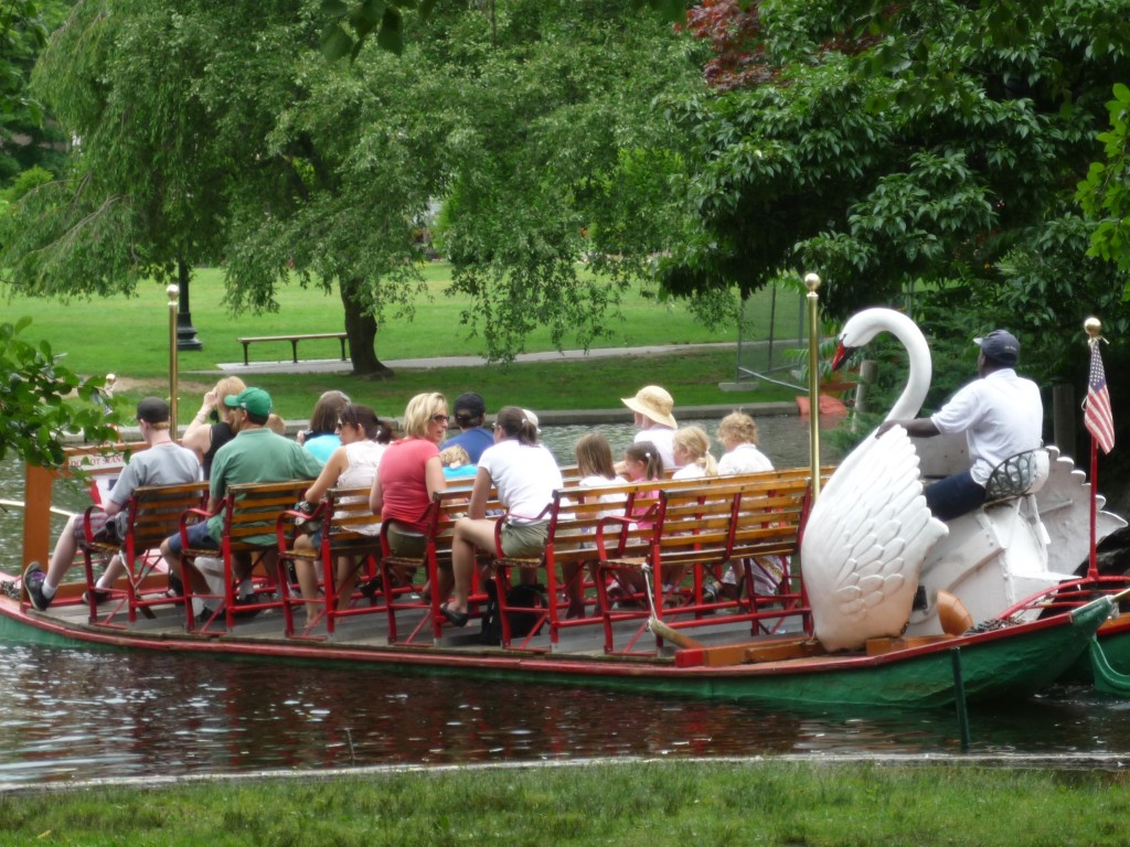 Picture of Swan Boats of Boston ride in Boston, Mass. (photo by Eric)