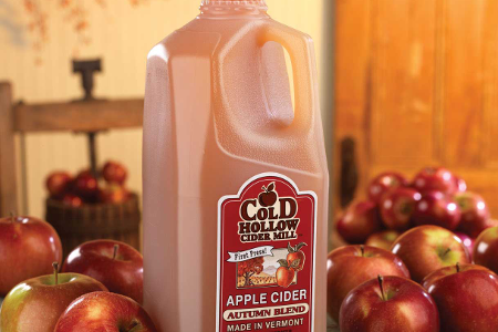 Enjoying Amazing Apple Cider at Cold Hollow Cider Mill, Waterbury, Vt.