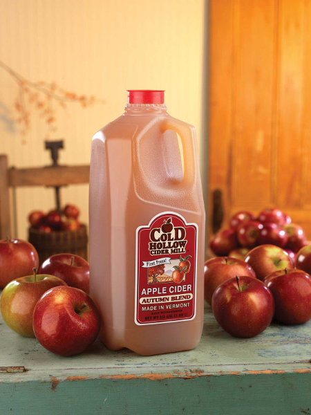 Apple cider from Cold Hollow Cider Mill in Waterbury, Vermont