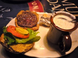 Image of burger at The Pour House, Boston, Mass.