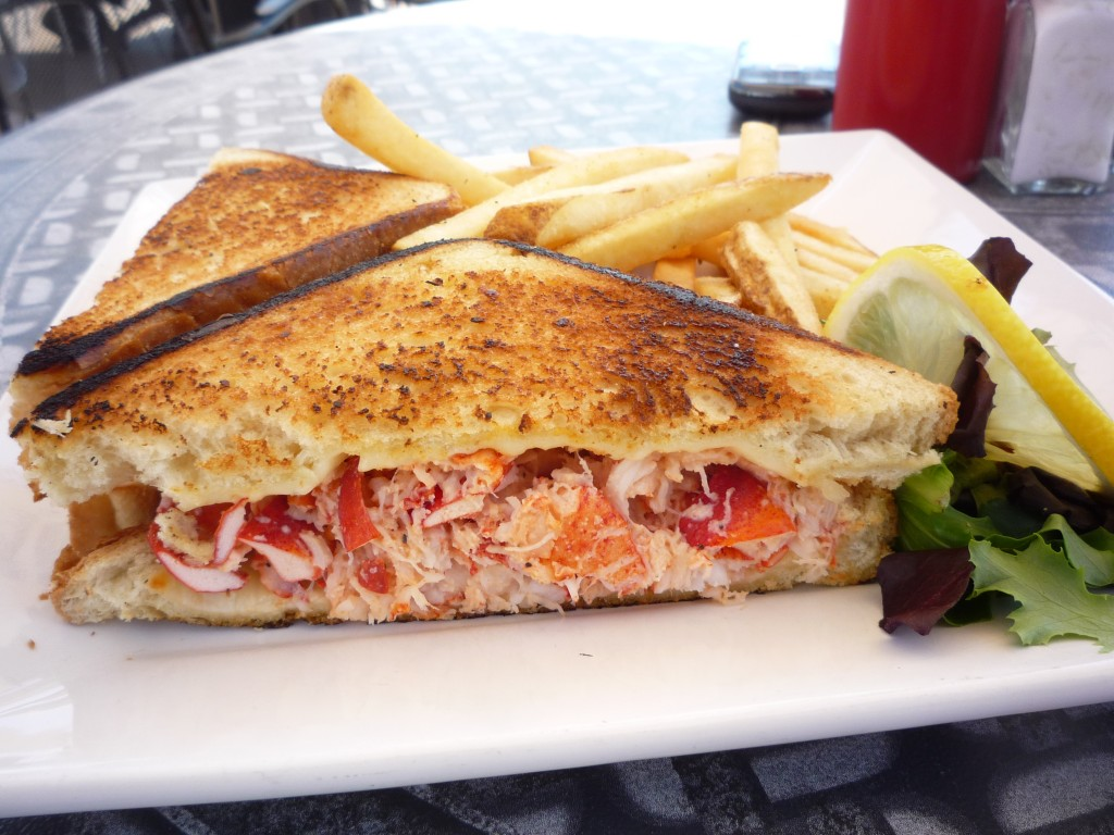 Photo of lobster grilled cheese sandwich from the Sail Loft in Dartmouth, Mass. (photo by Eric)