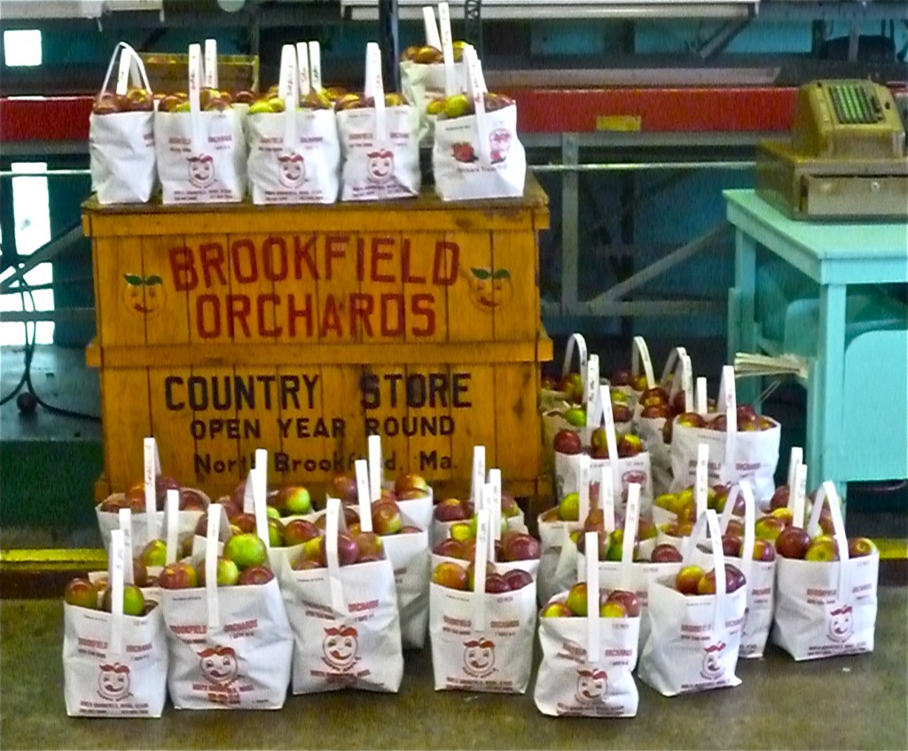 Bags of apples from Brookfield Orchards (photo by Eric)