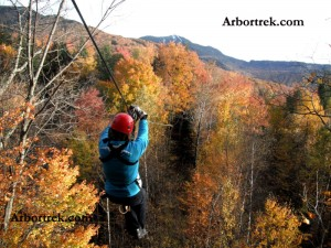 Arbortrek Zip Lines at Smugglers' Notch, Jeffersonville, Vt. (photo, courtesy of Arbortrek)