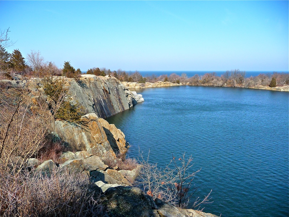 Quarry area at Halibut Point Reservation (photo by Eric)