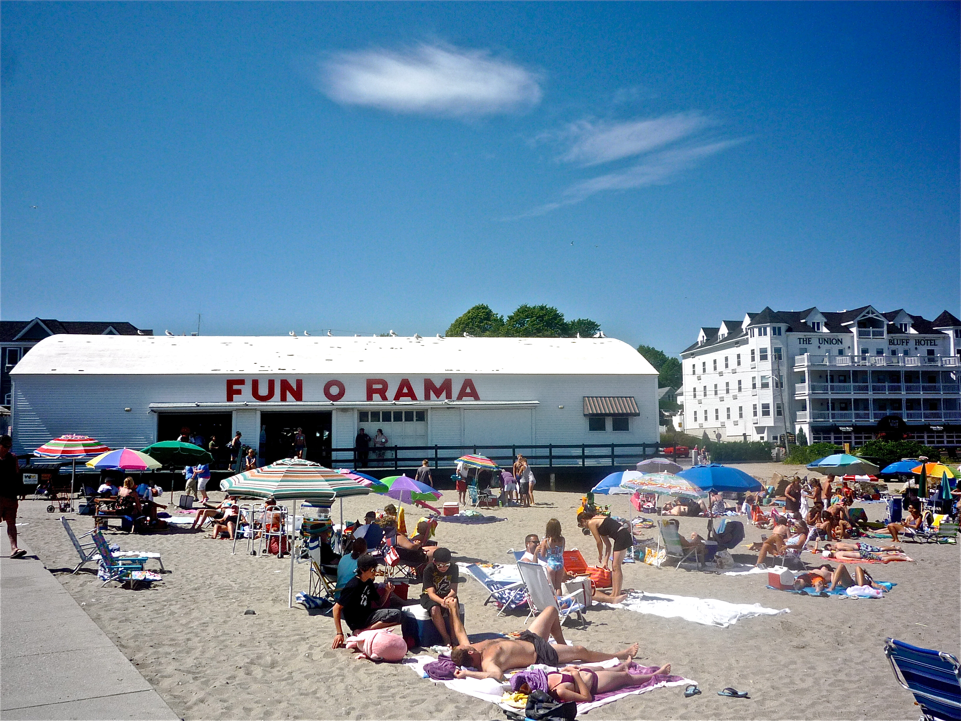 Photo Of Sandy Beach And Arcades At Short Sands