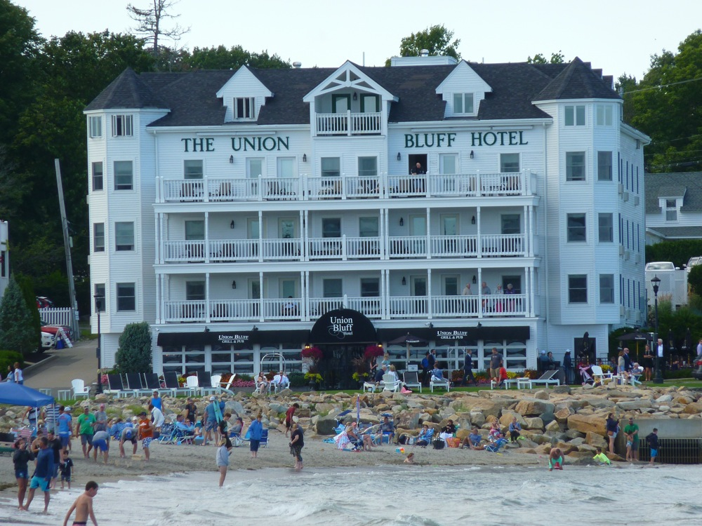 Oceanside at the Union Bluff Hotel, York Beach, Maine.