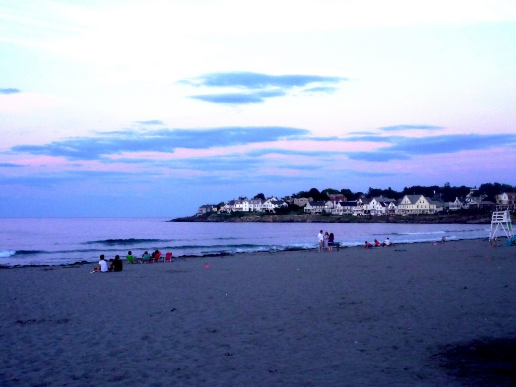 Early evening at Short Sands Beach, York Beach, Maine