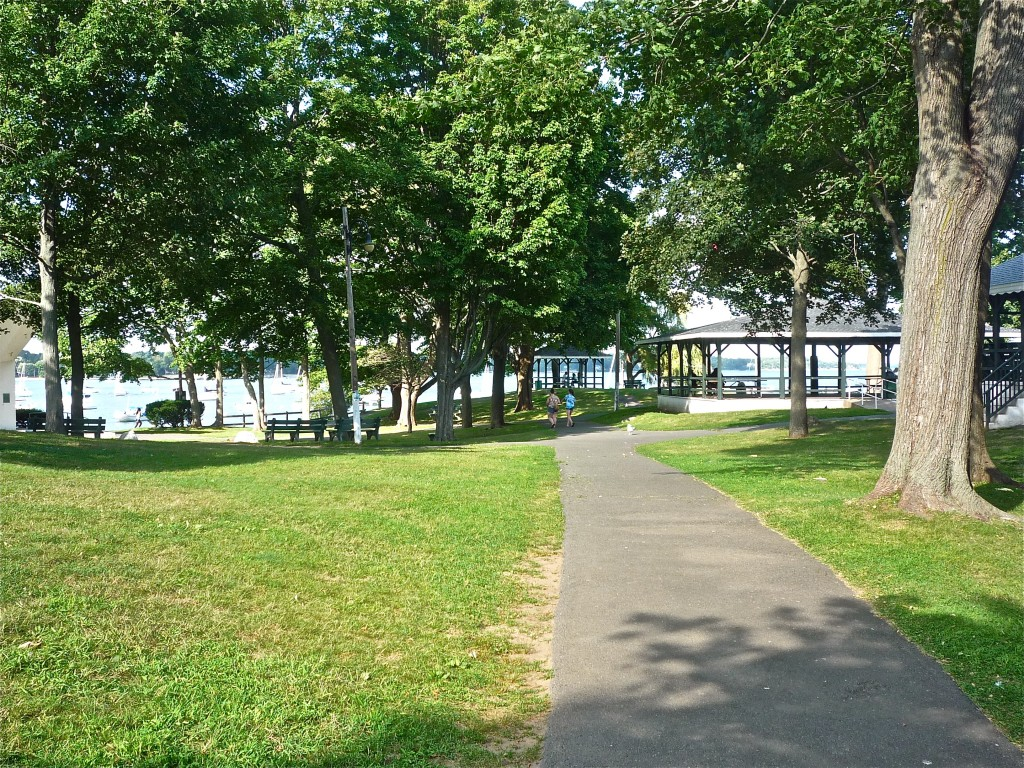 The Park leading to the water at Salem Willows Park, Salem, Mass. (photo by Eric)