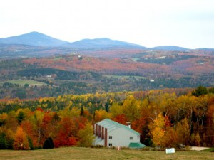 Fall foliage view from Burke Mountain in the Northeast Kingdom of Vermont (photo by Eric)