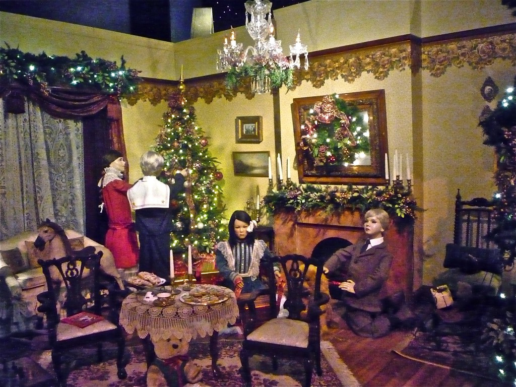 Photo of Christmas display at Enchanted Village, Jordan's Furniture, Avon MA