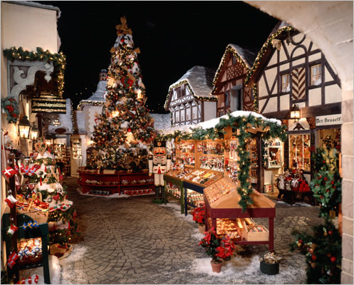 Visiting Bavarian Christmas Village Year-Round at Yankee Candle, South Deerfield Mass.